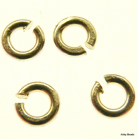 10 X 4 mm Sterling Silver open jump rings 1 mm wire.